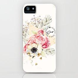 Flamingo Summer Trip iPhone Case