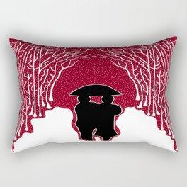 White Forest Snow Rectangular Pillow