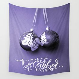 Remember December Wall Tapestry