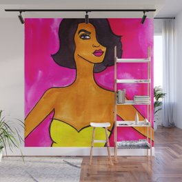 Pink and Yellow Wall Mural