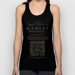 Shakespeare, Hamlet 1603 Unisex Tank Top