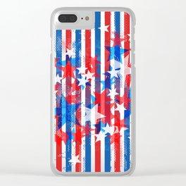 AMERICANA PATTERN Clear iPhone Case