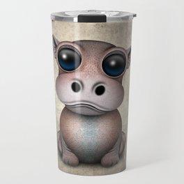 Cute Baby Hippo Travel Mug