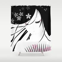 asian Shower Curtains featuring Asian Obsession by DesignDinamique