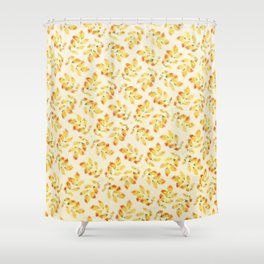 Pattern leaves at Autumn Shower Curtain