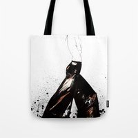 raven Tote Bags featuring Raven by Holly Sharpe