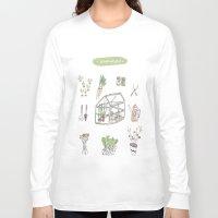 calendar Long Sleeve T-shirts featuring Calendar Garden`15 by Inga Provorova