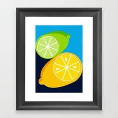 Lemon and Lime Framed Art Print