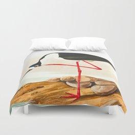 Long-legged Avocet Duvet Cover