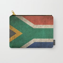 Old and Worn Distressed Vintage Flag of South Africa Carry-All Pouch