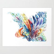 Struck By Lightning Art Print