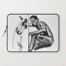 Surfer - Black and White Laptop Sleeve