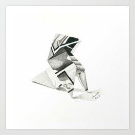 Origami Bird I Art Print