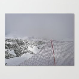 Snow is whiter on the other side Canvas Print