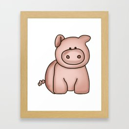 Inktastic Pig Farm Bacon Piggy Clothing Apparel Tees Adult farm Framed Art Print