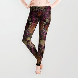 Magical dream, fractal abstract Leggings