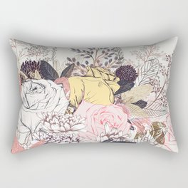 Miles and miles of rose garden. Retro floral pattern in vintag style Rectangular Pillow