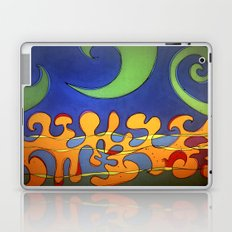 OCEAN Wave SHOWER CURTAIN #B Laptop & iPad Skin