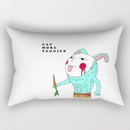 Eat More Veggies Psycho Bunny Rectangular Pillow