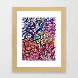 Underwater Rainbow Plants Framed Art Print