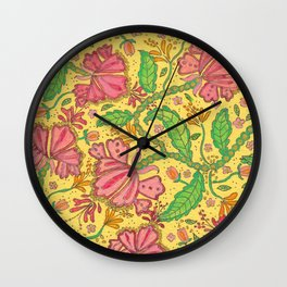 Florally Floral Town Wall Clock