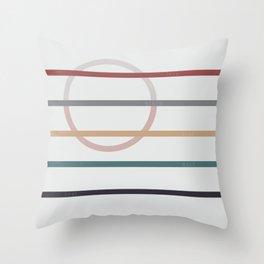 for Love || stripes & circle Throw Pillow