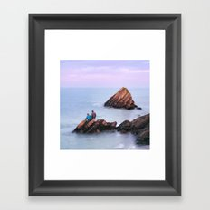 Fishing with Dad Framed Art Print