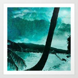 Tempest Island (Colder Version) Art Print
