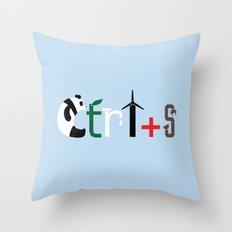 Ctrl + S Throw Pillow