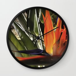 Bird of Paradise Strelitzia Wall Clock