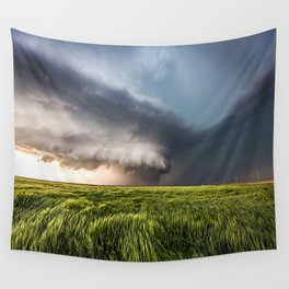 Leoti's Masterpiece - Incredible Storm in Western Kansas Wall Tapestry