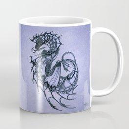 """Tsunami"" by Amber Marine ~ Sea Dragon (Amethyst Version) ~ Graphite Illustration, (Copyright 2005) Coffee Mug"