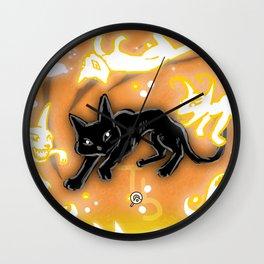 Feline Fire Wall Clock