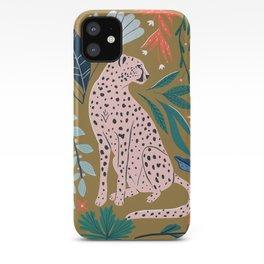 Modern cheetah jungle print iPhone Case