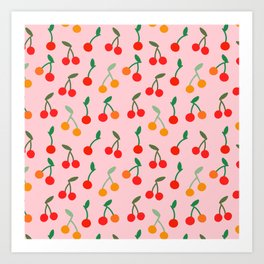 Cherry pattern Art Print
