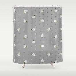 Gardenia pattern grey Shower Curtain