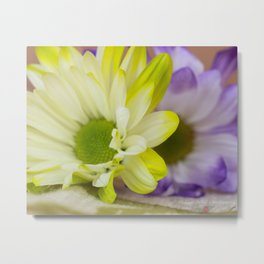Purple Yellow Metal Print