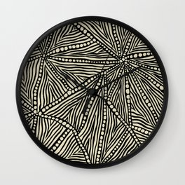 Black and Ivory Triangles Wall Clock