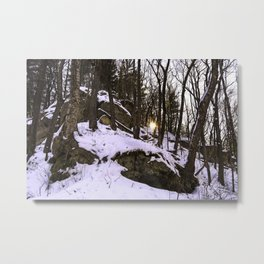 Sun through the trees Metal Print