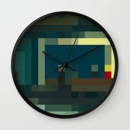 Nighthawks, pixelated Wall Clock