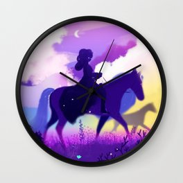 Ghost Rider in the Twilight Wall Clock