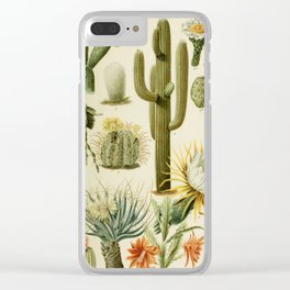 Naturalist Cacti Clear iPhone Case
