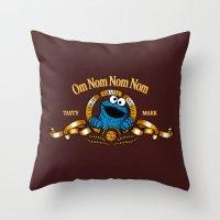 cookies Throw Pillows featuring Cookies Gratia Cookies by ikado