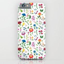 Hungarian folk art pattern iPhone Case