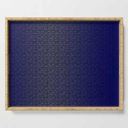 Binary Blue Serving Tray