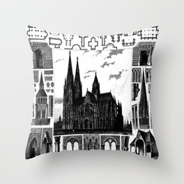 Columns and other details of architecture in the Middle Ages. Throw Pillow