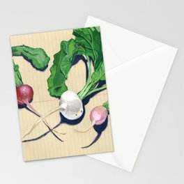 Easter Egg Radishes in Gouache Stationery Cards