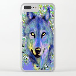 WOLF IN THE GARDEN Clear iPhone Case