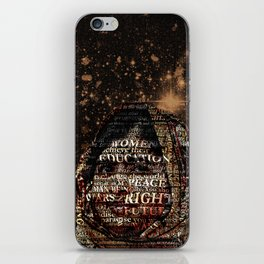 One Book, One Pen, One Child, and One Teacher Can Change The World !!! iPhone Skin
