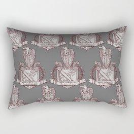 Nolite Te Bastardes Carborundorum_Burgandy Crest Rectangular Pillow